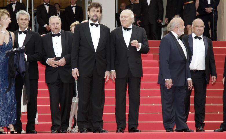 Cannes : la montée des marches pour la présentation du film Habemus papam de Nanni Moretti le 13 mars 2011. / © IP3 PRESS/MAXPPP