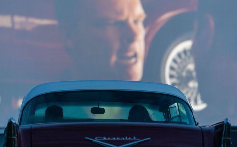 """Projection du film """"Le Mans 66"""", le 12 Mai 2020, à Dresden, en Allemagne / © Robert Michael/dpa/picture-alliance/Newscom/MaxPPP"""