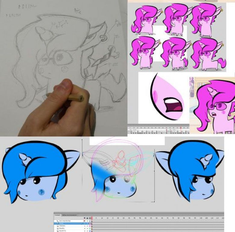 OhPonyBoy dessine et anime ses personnages à la main. / © OhPonyBoy