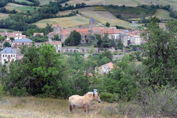 Le village méridional français de Sainte-Eulalie-de-Cernon, aux confins du plateau du Larzac.